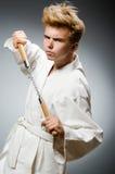 Śmieszny karate wojownik Zdjęcie Stock