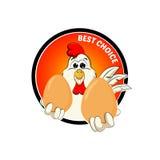 Śmieszny koguta logo Zdjęcia Stock