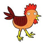 śmieszny komiczny kreskówka kurczak Fotografia Stock