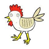 śmieszny komiczny kreskówka kurczak Zdjęcia Royalty Free