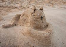 Śmieszny kot od piaska Obrazy Royalty Free