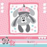 Śmieszny królik dziewczyny wektor Obraz Royalty Free