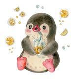 śmieszny kreskówka pingwin Zdjęcie Stock