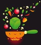 Śmieszny kucharstwo ilustracji