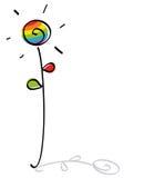 śmieszny kwiatu homoseksualista royalty ilustracja