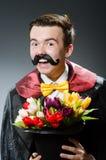 Śmieszny magik z różdżką Obraz Stock