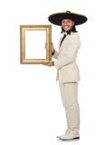 Śmieszny meksykanin w kostiumu mienia fotografii ramie Zdjęcie Stock