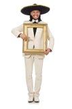 Śmieszny meksykanin w kostiumu mienia fotografii ramie Obrazy Stock