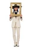 Śmieszny meksykanin w kostiumu mienia fotografii ramie Obraz Royalty Free