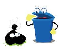 Śmieszny Odpady i Kosz Zdjęcie Royalty Free