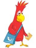 śmieszny papuzi listonosz Fotografia Royalty Free