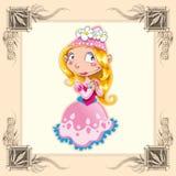 śmieszny princess Fotografia Royalty Free