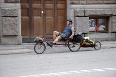 Śmieszny rower Obrazy Royalty Free