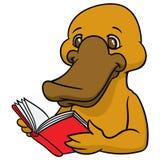 Śmieszny szczęśliwy kreskówki platypus, dziobak lub Obrazy Royalty Free