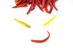 Śmieszny twarzy chili Obrazy Royalty Free