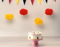 Śmieszny urodzinowy tort Zdjęcia Stock