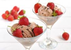 śmietanka czekoladowy lód Fotografia Royalty Free