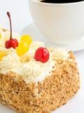Śmietanka tort Fotografia Stock