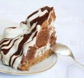 śmietanka tortowy czekoladowy talerz Obraz Royalty Free