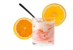 Śmietankowy jogurt Obraz Stock