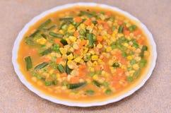 Śmietankowy mieszany warzywo Zdjęcia Stock