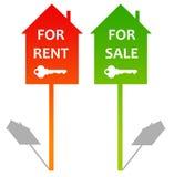 Miete oder Verkauf vektor abbildung