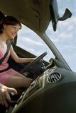 Mieten Sie ein Auto! Stockbild