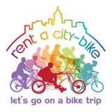Mieten Sie ein Fahrrad stockfoto