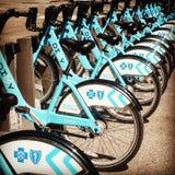 Mieten Sie ein Fahrrad Stockbilder