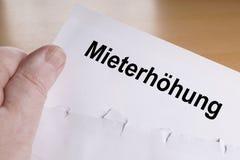 Mieterhohung为租增量是德语 库存图片