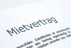 Mietevertrag Stockfotografie