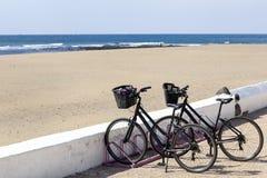 Mietfahrräder auf Lanzarote stockfoto