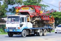 Mietitrebbiatrice del riso e del camion Fotografie Stock
