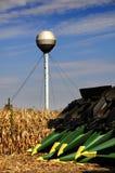 Mietitrebbiatura - strumentazione moderna dell'azienda agricola Fotografie Stock