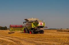 Mietitrice di Claas su un campo di grano Immagine Stock