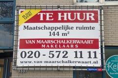 Mietsozialräume in Amsterdam die Niederlande 2018 stockfoto