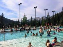 Miette Hot Springs sont spri chaud commercialement développé photo libre de droits