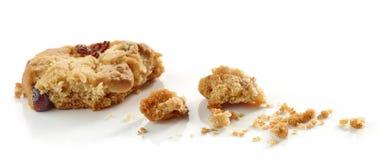 Miettes de macro de biscuit photographie stock libre de droits