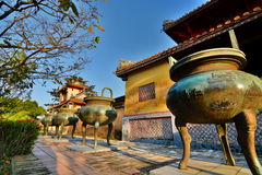 The Mieu courtyard. Imperial City. Hué. Vietnam Royalty Free Stock Image