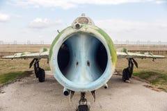 MIG下午19点策划者B喷气式歼击机 免版税库存图片