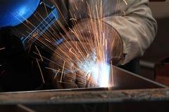 MIG焊工 库存照片