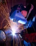 mig钢管焊接 免版税库存照片