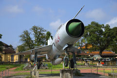 MiG-21 κοντά επάνω Μουσείο πόλεων, χρώμα Στοκ φωτογραφία με δικαίωμα ελεύθερης χρήσης