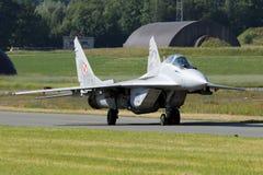 MiG-29 πολεμικό τζετ υπομοχλίων Στοκ φωτογραφία με δικαίωμα ελεύθερης χρήσης