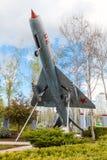 MiG-17 в парке города города Краснодара Стоковая Фотография