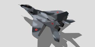 Mig 29, русский военный самолет, реактивный истребитель, эскиз Стоковое Изображение