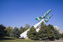 Mig-15 строгает военный мемориал в Краснодаре Стоковые Изображения