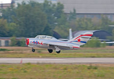 MiG-15UTI fighter jet Stock Images