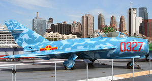 Mig 17 jet on USS Intrepid Royalty Free Stock Photo