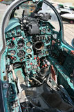 Mig 21, armatures. Mig 21, cockpit, armatures, control stick royalty free stock photos